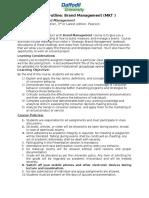 Course Outline - Brand Management