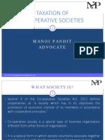 Taxation of Co-operative Societies