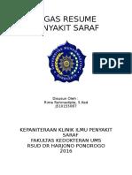 Cover Resume Tugas Saraf
