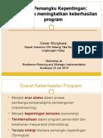 Forum Pemangku Kepentingan. Upaya Meningkatkan Keberhasilan Program
