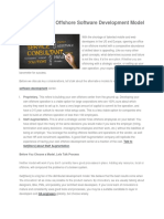 Choosing Your Offshore Software Development Model Your Offshore Software Development Model