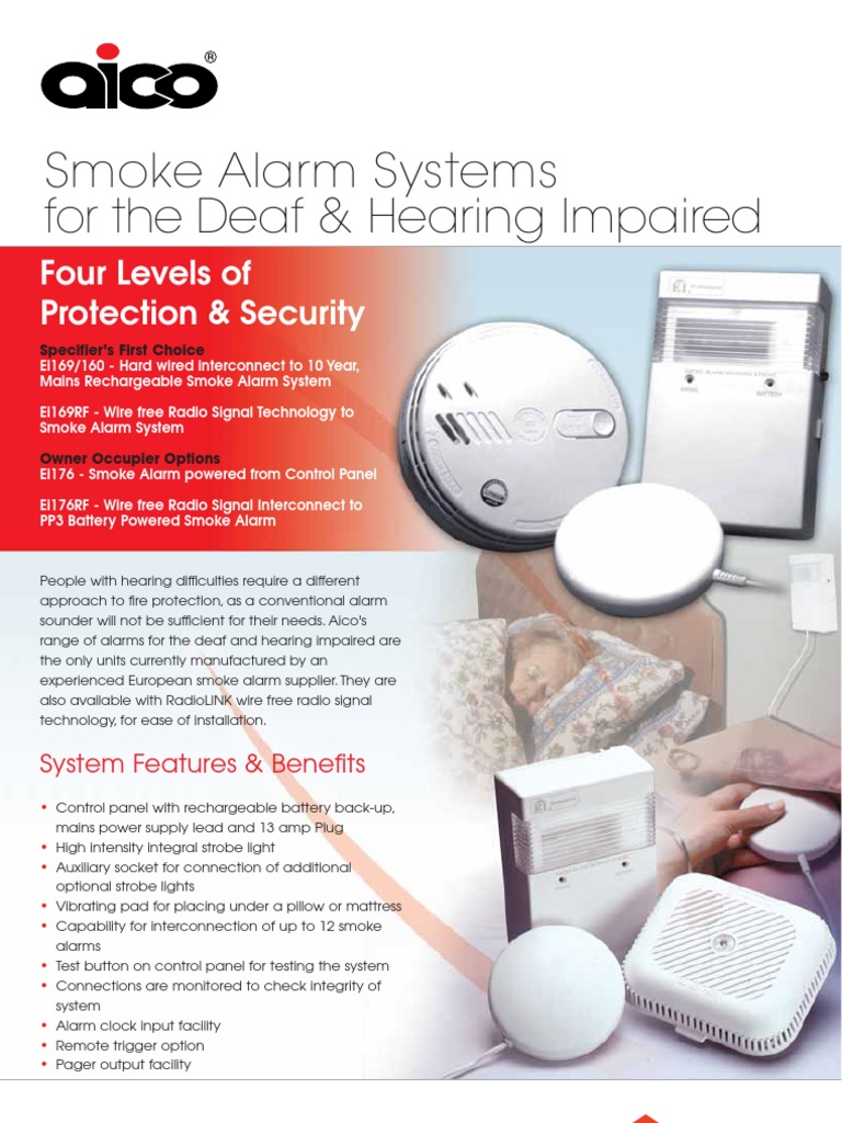 Aico Smoke Alarm Systems For The Deaf Hearing Impaired Alarms Wiring Diagrams Mains Electricity Electrical Connector