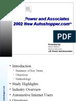2002 Internet Car Buyers - JDPowers