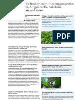 Indian Herbs for Healthy Body - Healing Properties of Adalodakam, Arogya Pacha, Ashokam, Irattimadhu