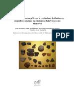 Fragmentos Pétreos y Cerámicos en Poblamientos Talayóticos