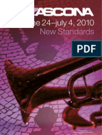 JazzAscona Official Flyer - Programa 2010