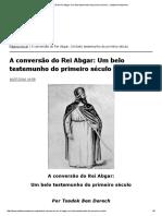 A Conversão Do Rei Abgar_ Um Belo Testemunho Do Primeiro Século __ Judaísmo Nazareno