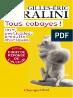 Séralini Gilles-Eric - Tous Cobayes
