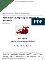 Yom Kipur e a Kapará Pelo Sangue Do Mashiach __ Judaísmo Nazareno