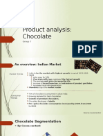 Product Analysis of chocolate