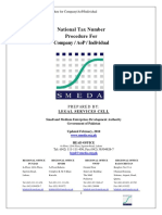 SMEDA National Tax Number Procedure for Company _ AoP _ Individual