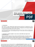 MCA Revisits Share Capital and Debenture Rules 2014 Favourably