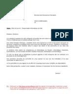 Exemple de Dossier de Candidature