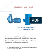 5 Main Rules of Pump Piping
