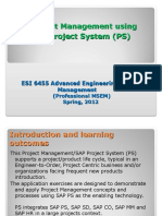 ESI_6455 SAP Project System Overview