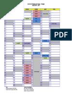 Calendrier CNPP - Entrainement 2015-2016