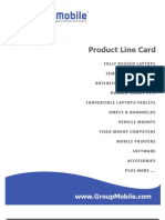 Group Mobile Rugged Computer Line Card