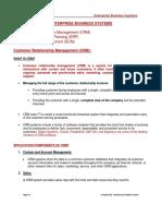 Lecture # 6 Enterprise Business Systems