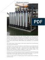 ion india limited - A water and waste water treatment sector - MBR/UF