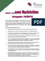 dbb Hessen Nachrichten 10/2016