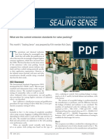 What are the current emission standards for valve packing?