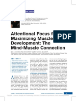 Attentional Focus for Maximizing Muscle Development the Mind Muscle Connection