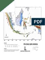 Zonasi Gempa 2013 Perc 1 Detik