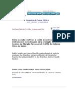 Cadernos de Saúde Pública
