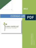 Codigo Urbano Juana Koslay 2012