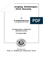 The Emerging Challenges to Civil Society by P. Chidambarm Book