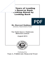 Five Years of Leading the Reserve Bank - Looking Ahead by Looking Back_ Dr. D. Subbarao