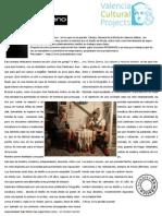 José Zambrano. Artículo de Valencia Cultural Projects
