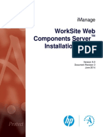 WorkSite Web Components Server Installation Guide (9.0, English)