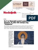 """Da li su Nemanjići postali popkulturni fenomen, ili zašto Srbi nemaju svog """"Sulejmana"""" - Nedeljnik"""