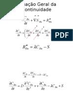 Equação Geral Da Continuidade