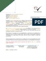 Carta de Autorizacion Para Ejecutar Una Encuesta