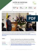 Boletín de noticias KLR 02AGO2016