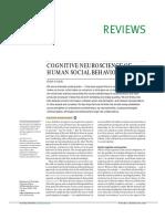 Adolphs R. Cognitive Neuroscience of Human Social Behaviour 2003 (1)