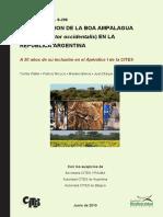 Conservacion de La Boa Ampalagua