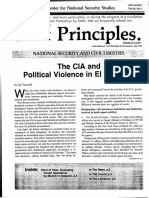 """First Principles Vol. 10, No. 2. """"The CIA and Political Violence in El Salvador,"""" Center for National Security Studies, December 1984"""