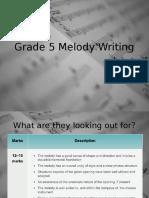 Melody Writing Grade 5