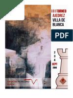 BASES III Torneo de Ajedrez Villa de Blanca (Bases)