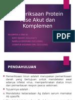 Pemeriksaan Protein Fase Akut Dan Komplemen