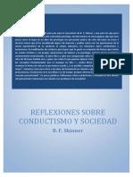 Reflexiones Conductismo Sociedad Skinner