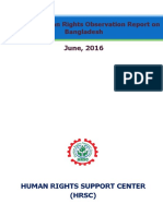 Monthly Human Rights Observation Report on Bangladesh, June'16