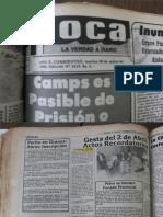 2 de abril 1984. Diarios de Corrientes. Malvinas.