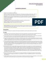 ISE III - Topic Presentation (Presentation Planner)