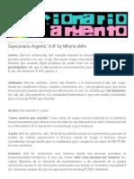 Gaycionario Argento a-B by Mhoris EMm