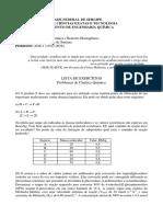 Lista 01 Cinética e Reatores