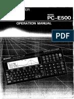 Pce500 Op Manual